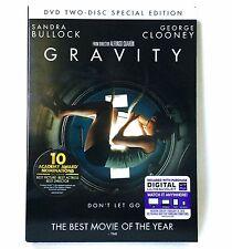 Gravity (2-Disc DVD, 2013, Special Ed. Inc. U.V.) Brand New ! w/ Slipcover !