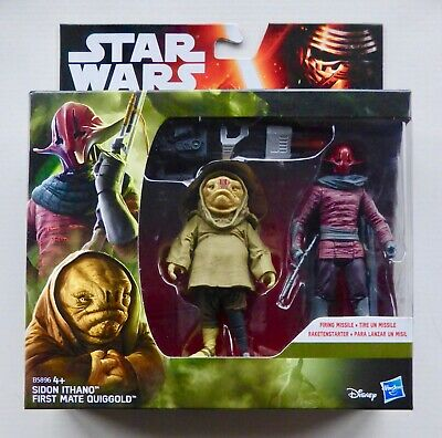 Star Wars Force Awakens 2-pack Sidon Ithano /& First Mate Quiggold 3.75 inch MISB