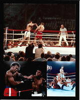 "MUHAMMAD ALI VS GEORGE FOREMAN  ""THE RUMBLE IN THE JUNGLE"" 10/30/74 8X10 COLLAGE"