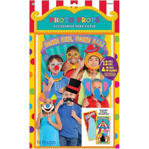 CARNIVAL Photo Booth Props Party CLOWNS Decorations Backdrop Scene Setter CIRCUS