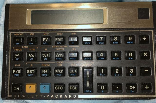 Hewlett Packard HP12C Financial Calculator