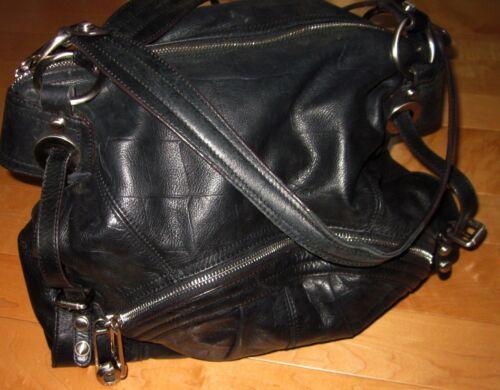 Makowsky Soft Black Leather Shoulder / Satchel