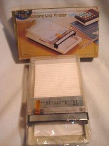Vintage Plastic Telephone Address Directory Hong Kong Mint Ebay