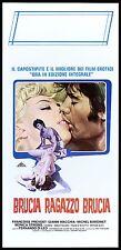BRUCIA RAGAZZO BRUCIA LOCANDINA CINEMA FILM FERNANDO DI LEO 1969 PLAYBILL POSTER