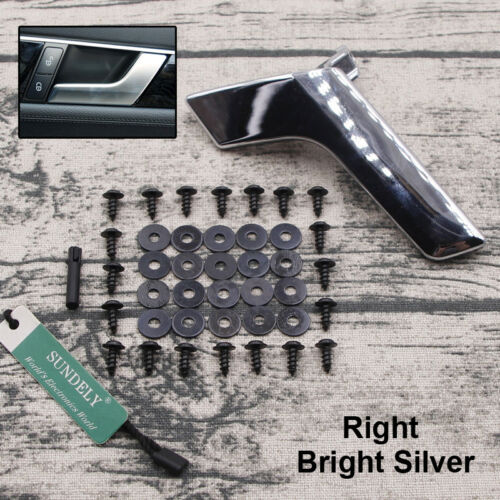 Right Gloss Silver Inside Interior Door Handle Repair Kit For Mercedes W204 X204