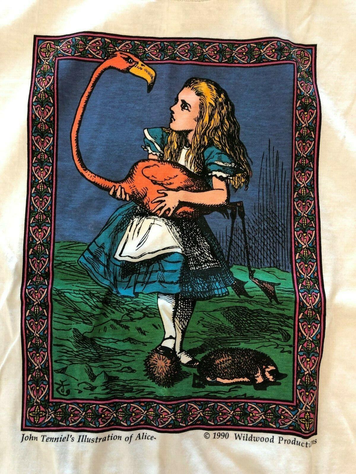 Vintage T Shirt - John Tenniels Illustrations Of … - image 4