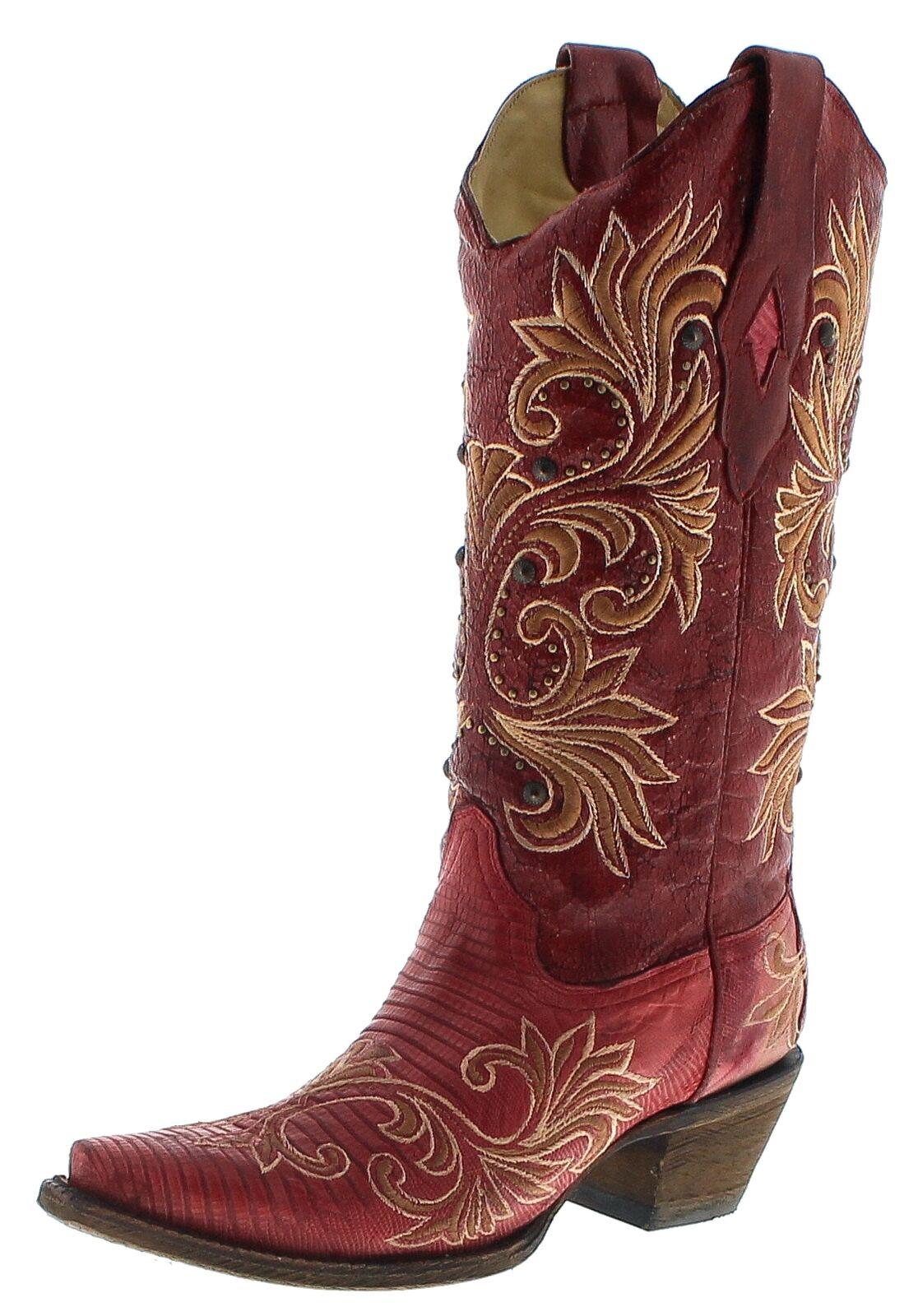 Corral Stiefel A3378 rot Lizard Damen Westernstiefel Rot Lederstiefel