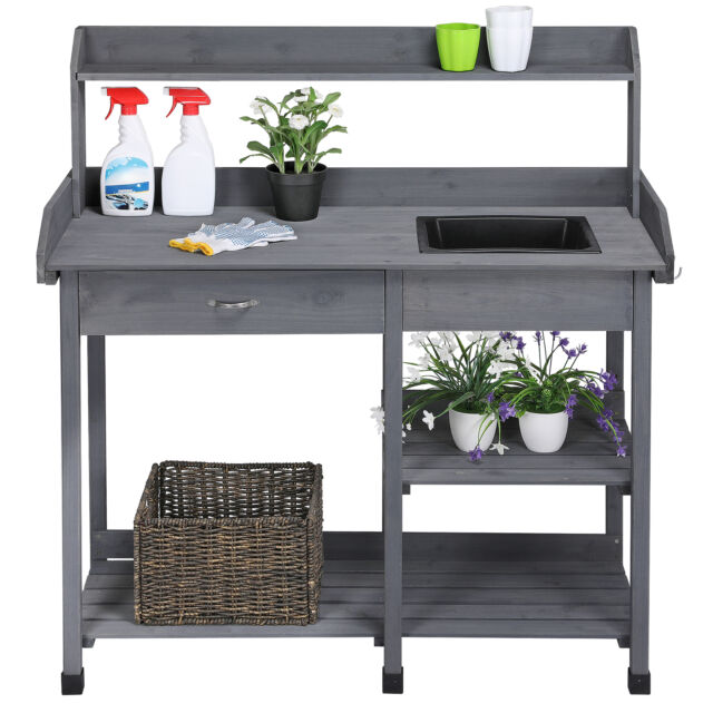 Lakewood 3 Person Swing, Outdoor Garden Potting Bench Table Planter Workbench Workstation With Sink Rack For Sale Online Ebay