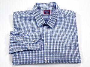 UNTUCKit-XXL-Blue-Check-Men-039-s-Long-Sleeve-Button-Front-Shirt