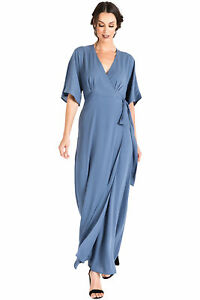 a5622cd3ad9 Standards   Practices Modern Women s Blue Woven Chiffon Kimono Wrap ...