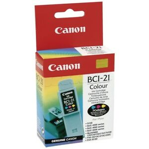 CANON-BCI-21-BJC2000-4000-5000-MULTIPASS-C20-C30-C50-INK-COLORE-ORIGINALE