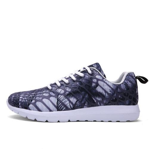 New Men Women Trendy Dazzle Colour Athletic Sneakers Hollow Net Cloth Breathable