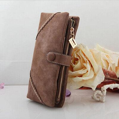 Wholesale Women Fashion Leather Wallet Button Clutch Purse Lady Long Handbag Bag