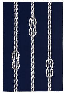 Area Rugs Nautical Knots Indoor Outdoor Rug Navy 5 X 7 6