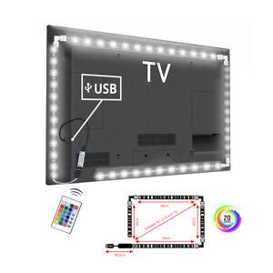 Detective-Comics-5V-5050-RGB-LED-Tira-Luz-Barra-Kit-de-iluminacion-trasera-De-Tv-Con-Control-Remoto