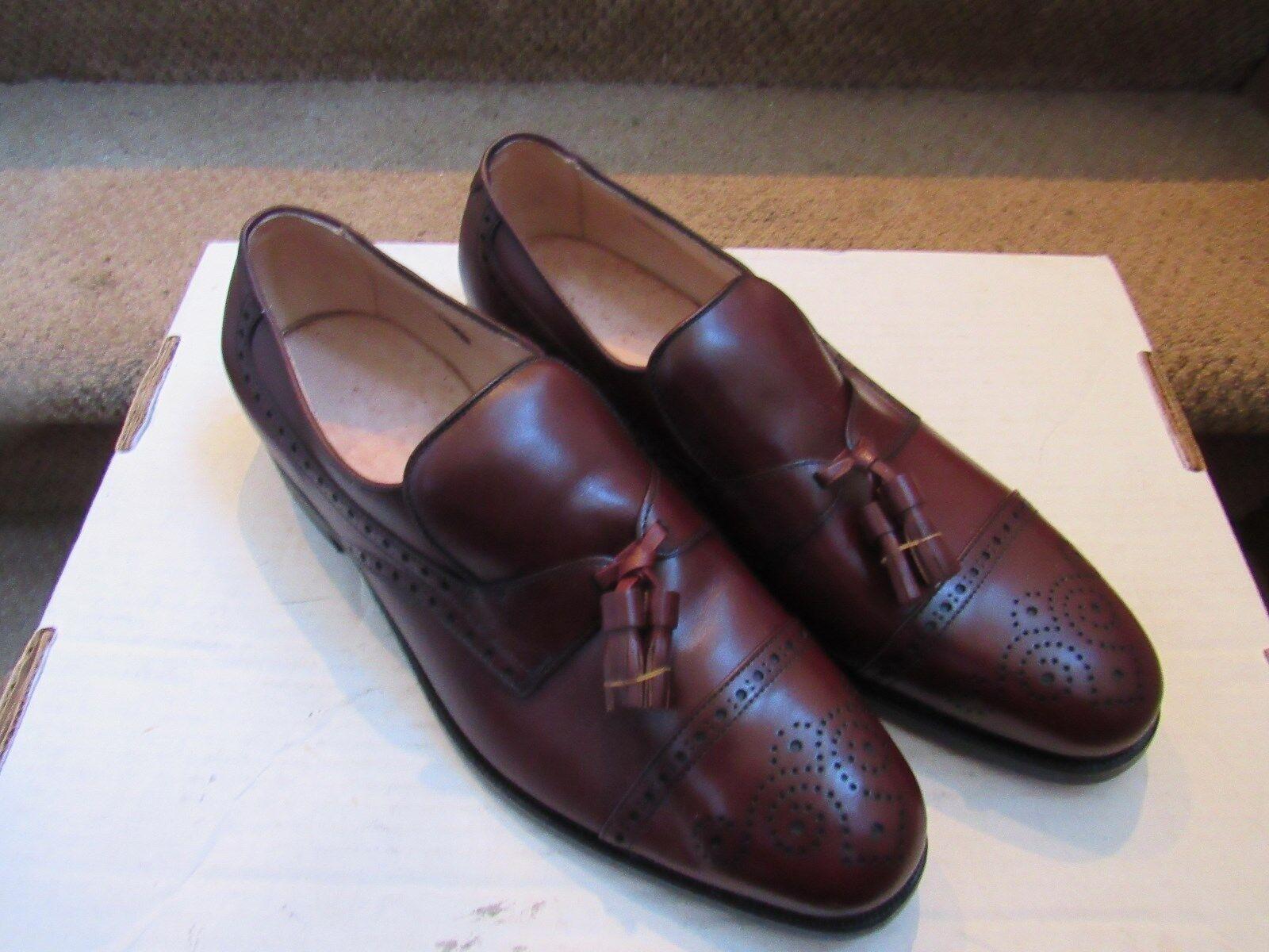 pair of  Allen Edmonds ROCKHURST Reddish color Loafers Size 8.5 C NWOB new