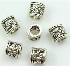 wholesale 30pcs Exquisite hollow out flowers Interval Charms beads spacer 6x6mm