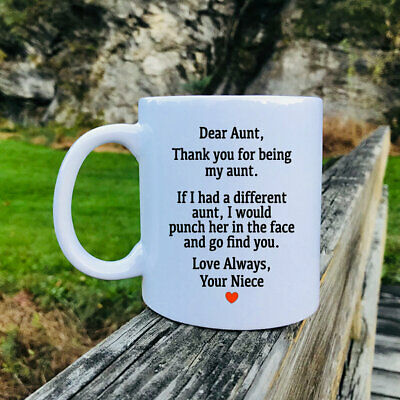 DEAR AUNT THANKS FOR BEING MY AUNT GIFT CHRISTMAS MUG Aunt Coffee Gift Mug