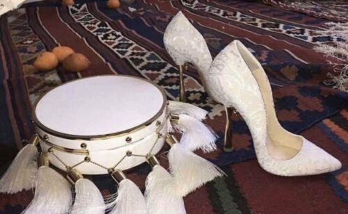 Ulyana Sergeenko White Silk And Golden heels