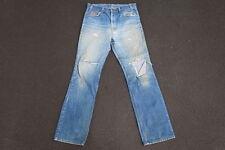 Vintage 80s Levis 517 Distressed Denim Jeans Made in USA Size 33 Orange Tab