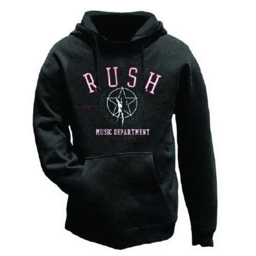 Men/'s Black Pullover Hoodie Official RUSH Music Department