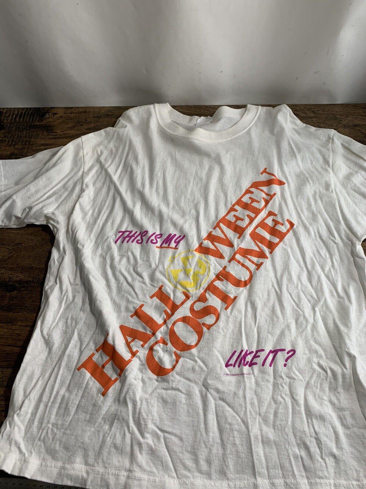 XL Screen Stars This Is My Costume Halloween Joke T-Shirt 80s White C11