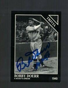 Bobby Doerr Boston Red Sox Signed 1993 Conlon Baseball Card W/Our COA
