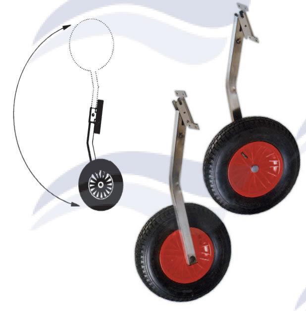 Par de ruedas plegables de acero inoxidable ø 375 375 375 MM 180 KG MAX b49dae