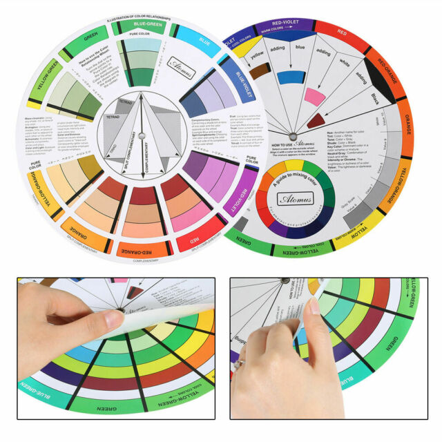 Color Wheel Guide Tool Mixing Artist Schemes Theory Home Decor