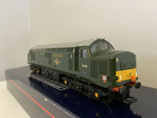 Bachmann OO Gauge 32-375K Class 37 37411 Caerphilly Castle BR Green DCC Fitted