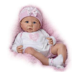 Ashton-Drake-Lifelike-16-039-039-Vinyl-Baby-Girl-Doll-034-Worth-The-Wait-034-Weighted-New