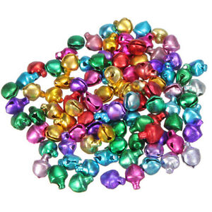 100Pcs Colorful Small Jingle Bell Findings Mixed Color 6//8//10mm Sew On Craft
