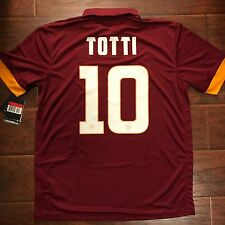 New 2014/15 Roma Home Jersey #10 TOTTI Nike Large BNWT Italy