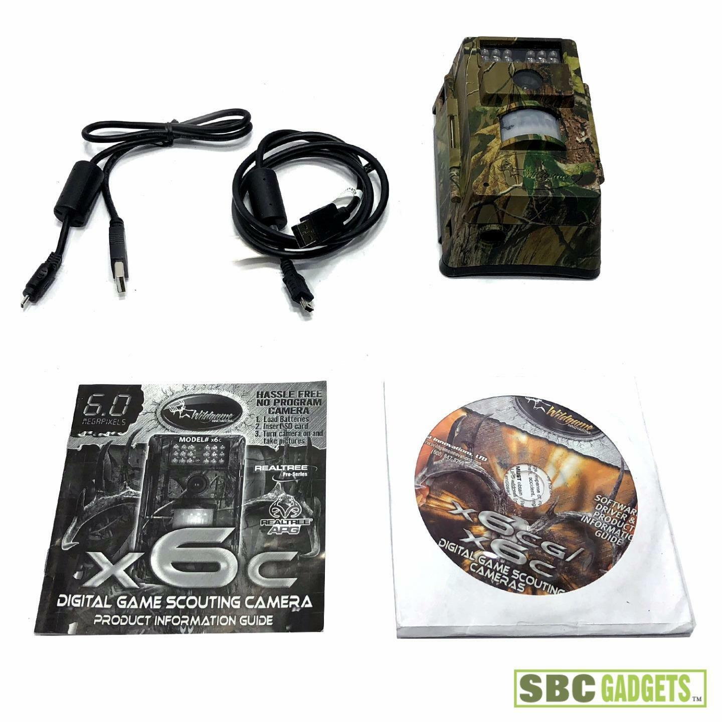 Wildgame Innovations X6C 6MP Digital Game Scouting Camera REALTREE