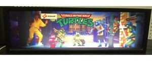 """TMNT Turtles In Time Arcade Marquee 27/""""x8/"""""""