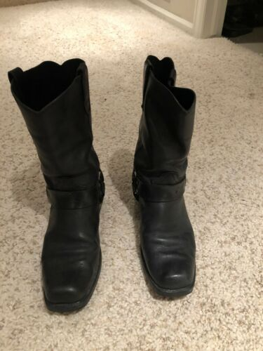 Leather Motorcycle Boots - NICE! Men's Size 12