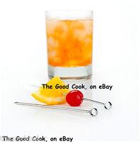 Martini Cocktail Olive Garnish Appetizer Picks Set Of 6 18/8 Stainless Steel