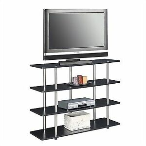 Convenience Concepts Designs2go Black Xl Highboy Tv Stand Ebay