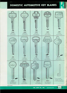 super rare vintage original 1964 keil automotive key blank. Black Bedroom Furniture Sets. Home Design Ideas