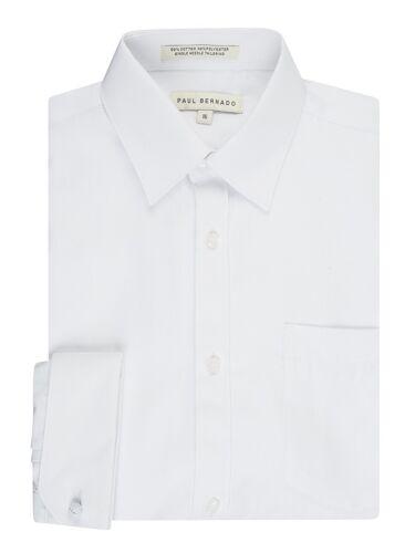 Regular /& Husky Sizes Boy/'s French Cuff Pique Design Dress Shirt