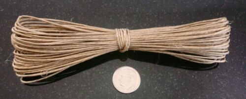 Hemp beading cord 45/' natural .5-1mm create necklaces woven lace 13.71mtrs m112