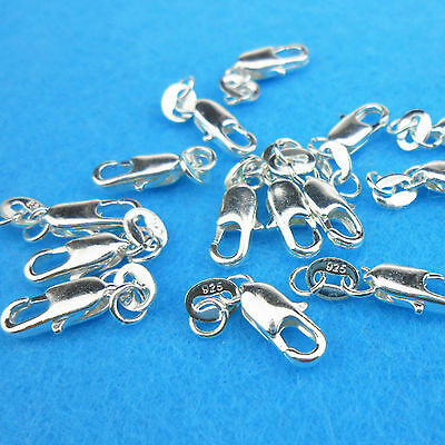 Wholesale 10PCS Connector 925 Sterling silver Lobster Clasps Necklace Pendants