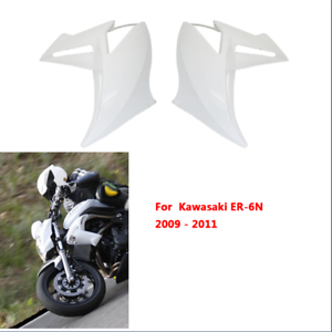 Injection-Left-Right-Radiator-Cover-Panel-Fairing-For-Kawasaki-ER-6N-2009-2011
