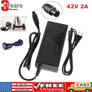 1X Battery Charger For Scooter Hover Board Unicycle Self Balancing Electric