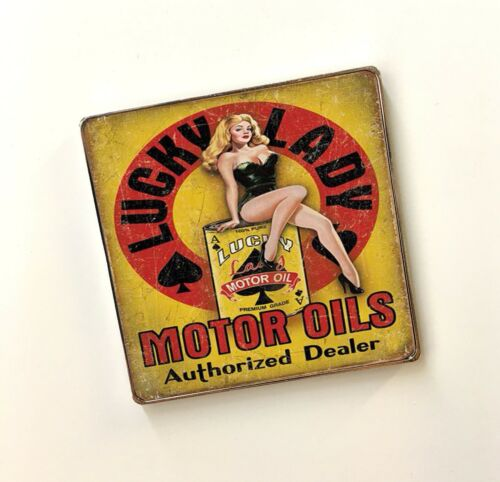 Classic Cars Automotive Fuel Novelty Mechanic Stainless Steel Fridge Magnets