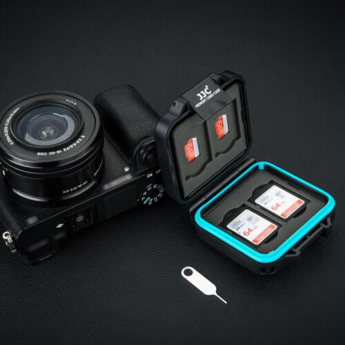 4 Tarjeta Micro Sd Jjc resistente al agua Soporte para caja de tarjeta de Memoria SD SDHC SDXC Fit 4