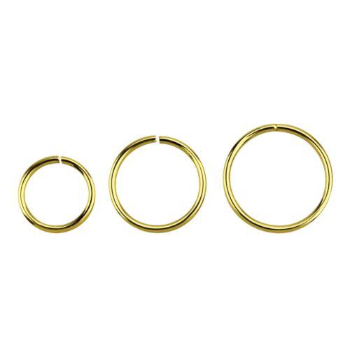 Septum Silber Gold-plattiert Piercing 0,6 mm Ø Biegbarer Endlosring Ring