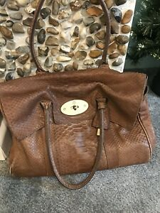 54353bdb7b Image is loading Mulberry-Bayswater-Snakeskin-Leather-Handbag-100-Authentic- Preowned