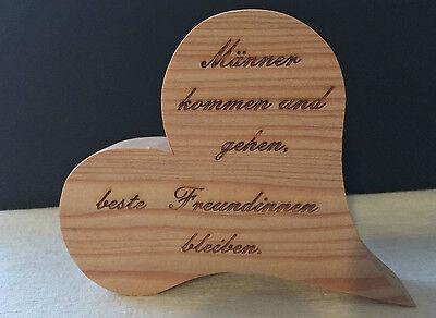 Deko Herz aus Holz Geschenk Spruch Sprüche Freundschaft