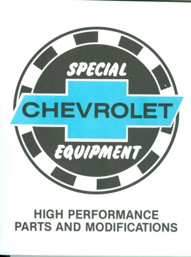 1963 64 65 66 67 68 69 70 71 72  CAMARO//CORVETTE CHEVY HIGH PERF MOD BOOK